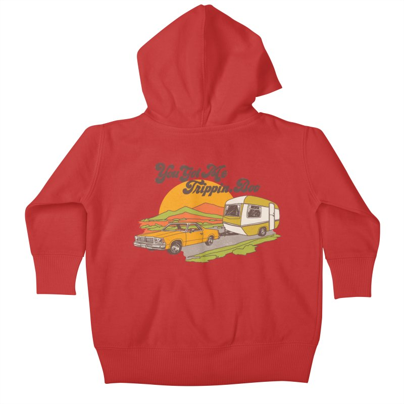 You Got me Trippin, Boo Kids Baby Zip-Up Hoody by Hillary White