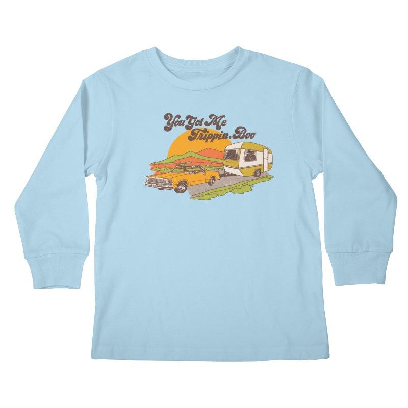 You Got me Trippin, Boo Kids Longsleeve T-Shirt by Hillary White