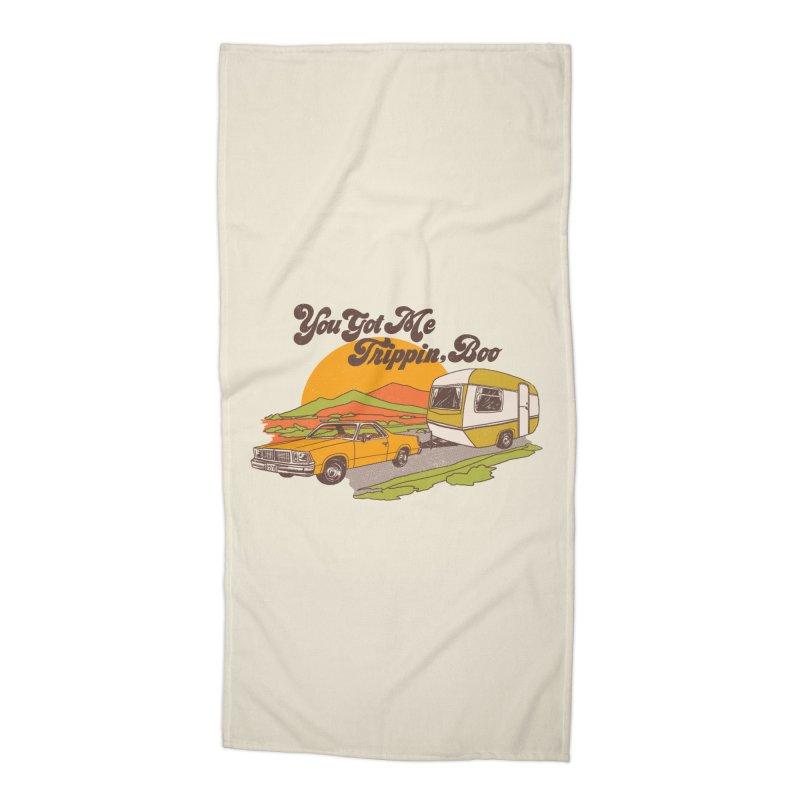 You Got me Trippin, Boo Accessories Beach Towel by hillarywhiterabbit's Artist Shop