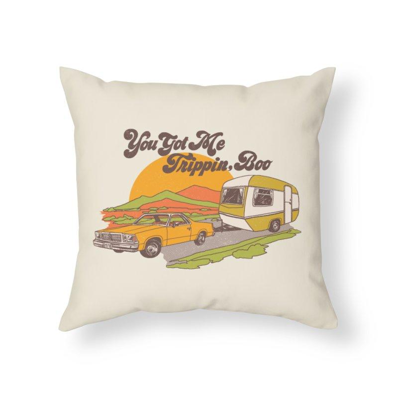 You Got me Trippin, Boo Home Throw Pillow by hillarywhiterabbit's Artist Shop