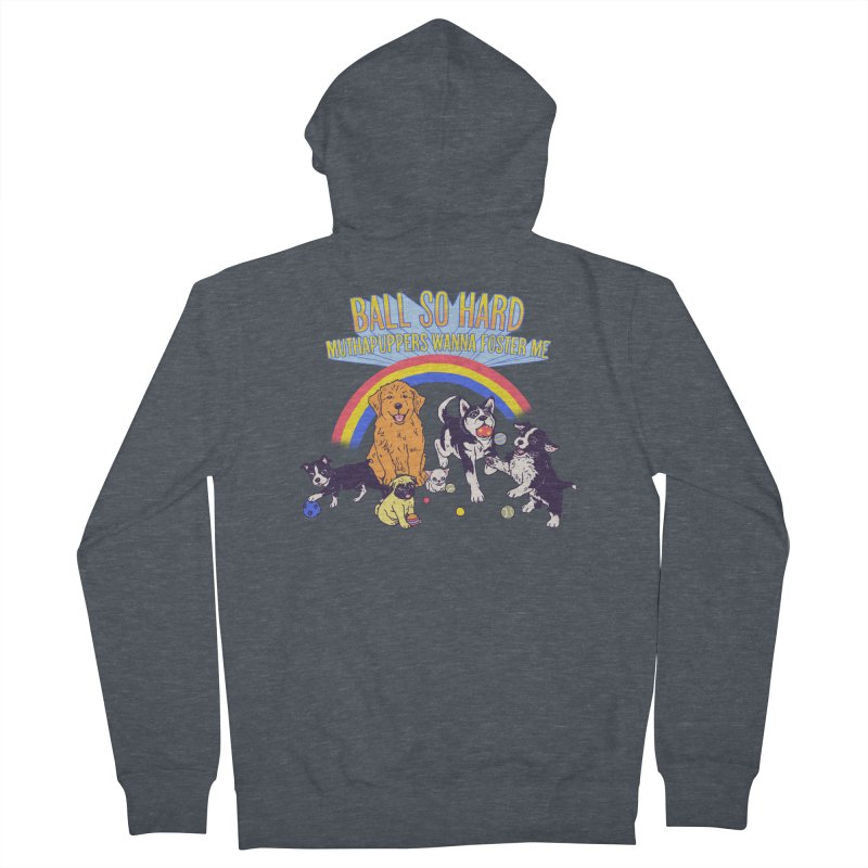 Puppies At Play Men's French Terry Zip-Up Hoody by hillarywhiterabbit's Artist Shop