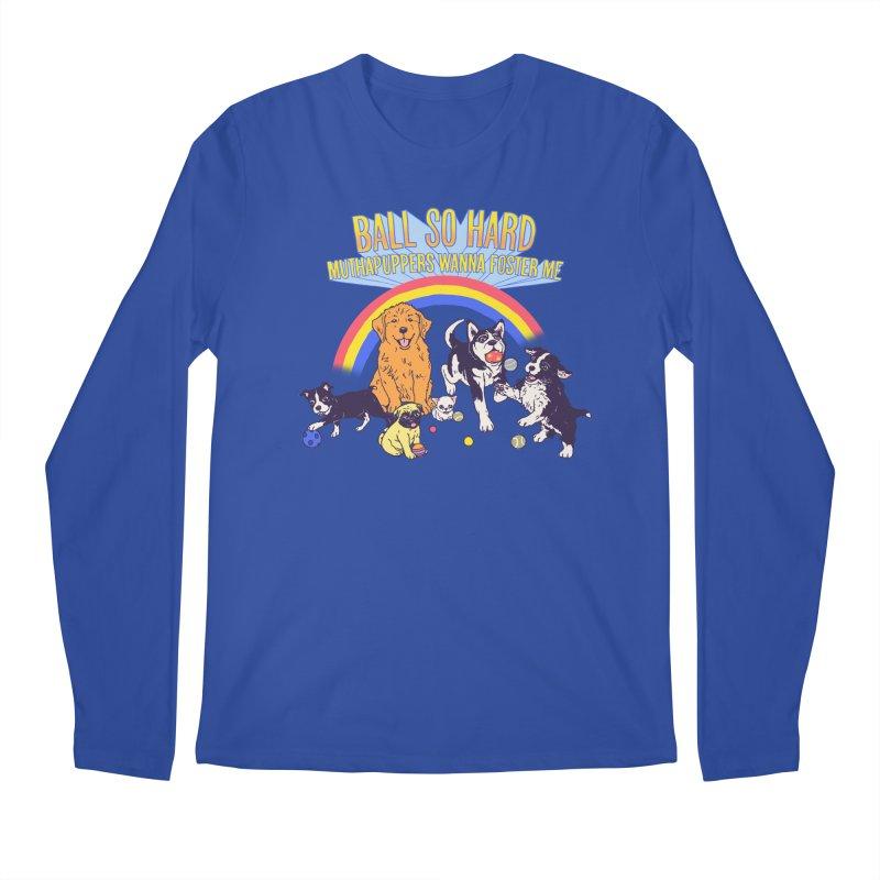 Puppies At Play Men's Regular Longsleeve T-Shirt by hillarywhiterabbit's Artist Shop