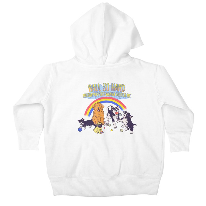 Puppies At Play Kids Baby Zip-Up Hoody by Hillary White