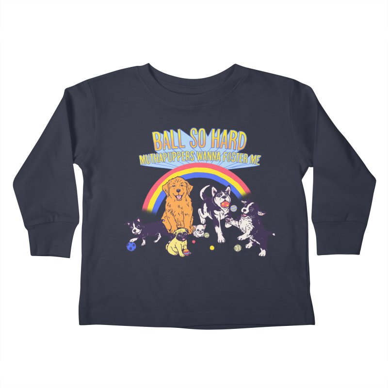 Puppies At Play Kids Toddler Longsleeve T-Shirt by hillarywhiterabbit's Artist Shop