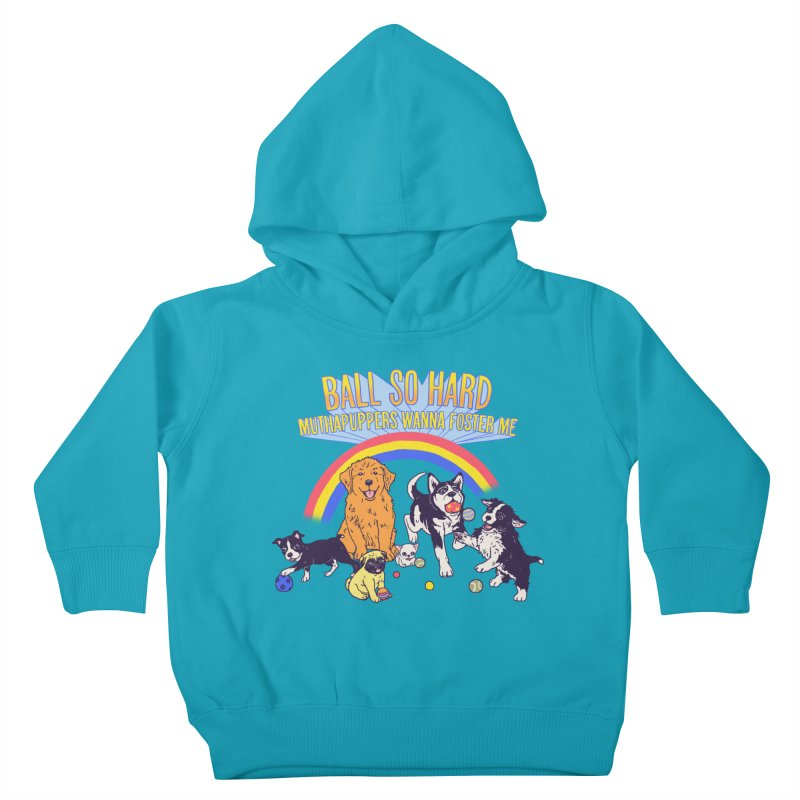Puppies At Play Kids Toddler Pullover Hoody by Hillary White