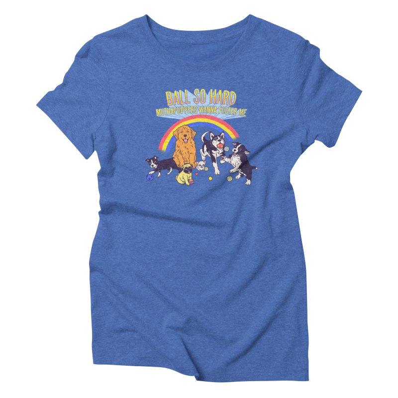 Puppies At Play Women's Triblend T-Shirt by hillarywhiterabbit's Artist Shop