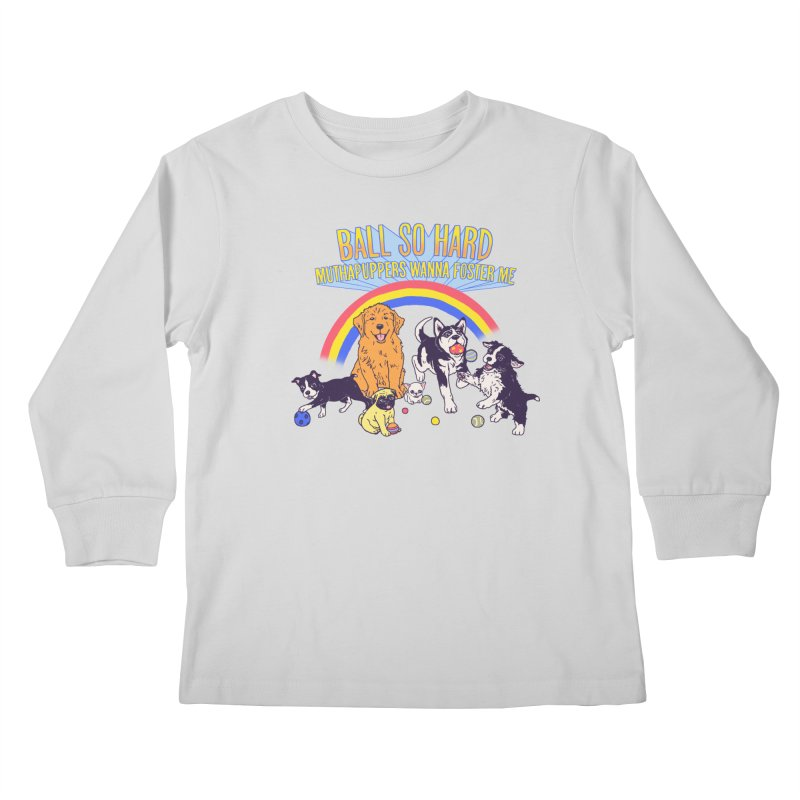 Puppies At Play Kids Longsleeve T-Shirt by Hillary White