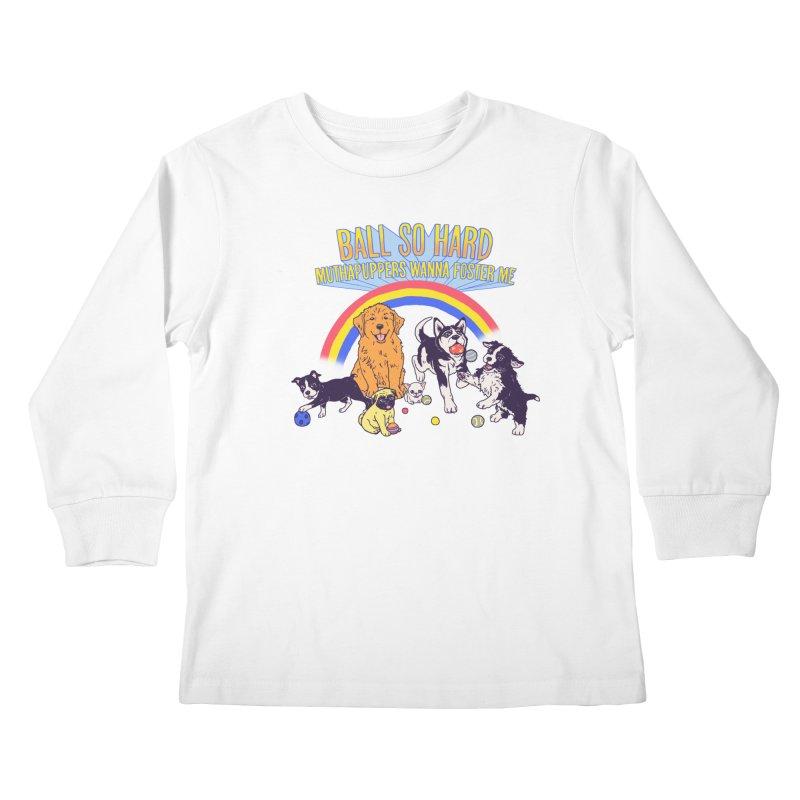 Puppies At Play Kids Longsleeve T-Shirt by hillarywhiterabbit's Artist Shop
