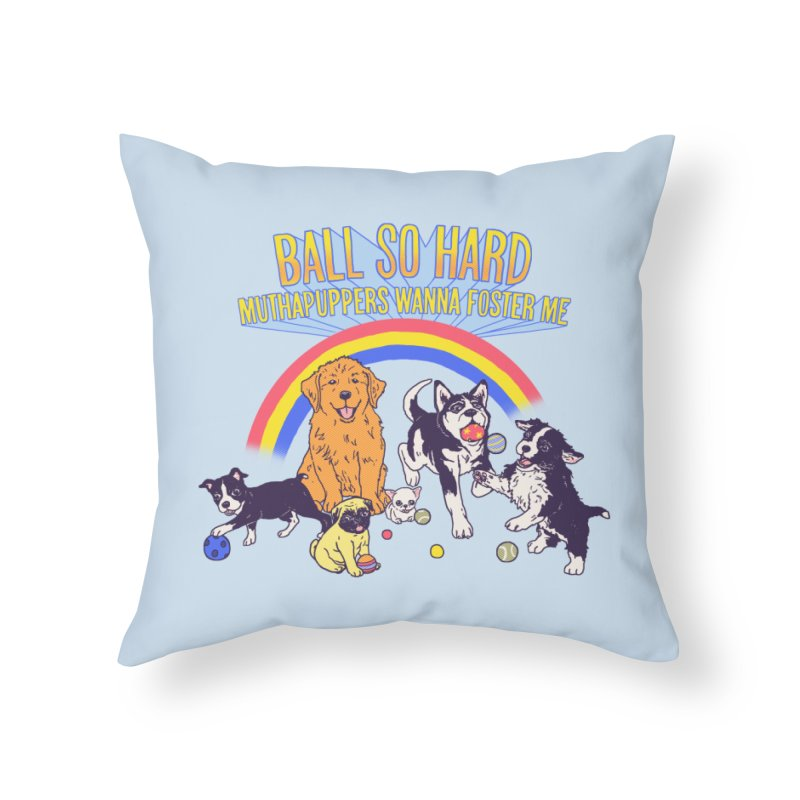 Puppies At Play Home Throw Pillow by hillarywhiterabbit's Artist Shop