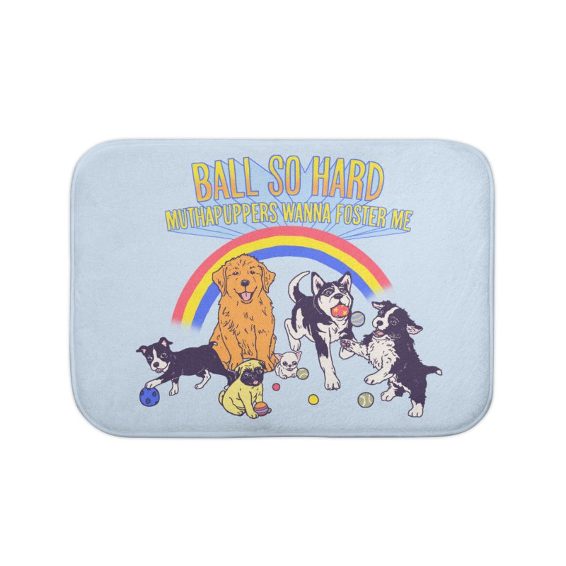 Puppies At Play Home Bath Mat by hillarywhiterabbit's Artist Shop