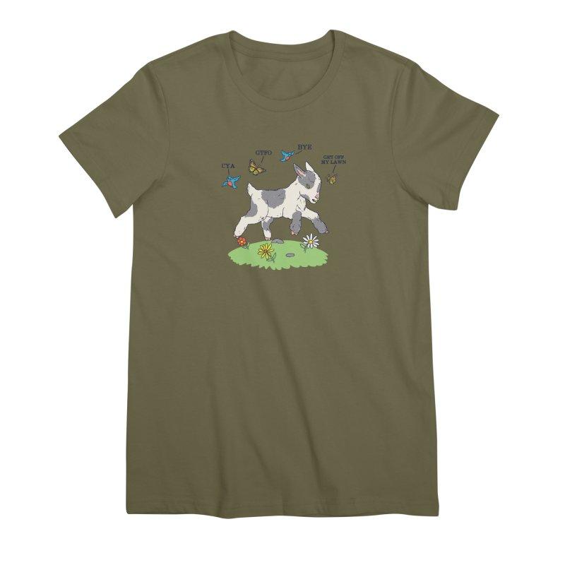 GoatTFO Women's Premium T-Shirt by hillarywhiterabbit's Artist Shop