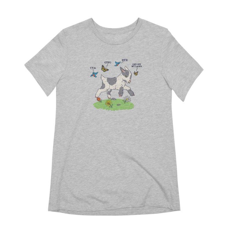 GoatTFO Women's Extra Soft T-Shirt by hillarywhiterabbit's Artist Shop