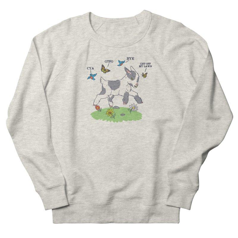 GoatTFO Men's French Terry Sweatshirt by hillarywhiterabbit's Artist Shop