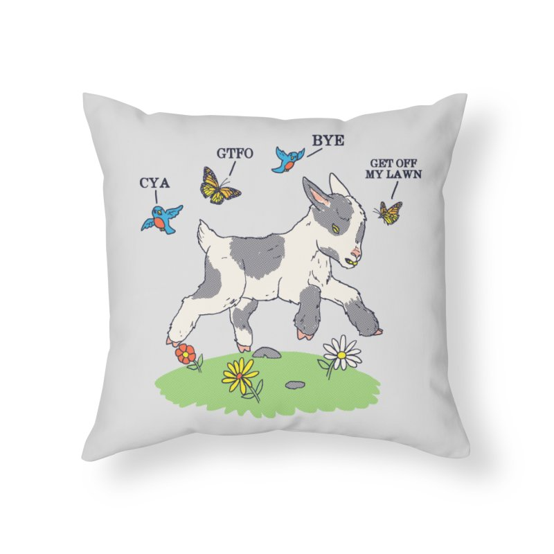 GoatTFO Home Throw Pillow by hillarywhiterabbit's Artist Shop