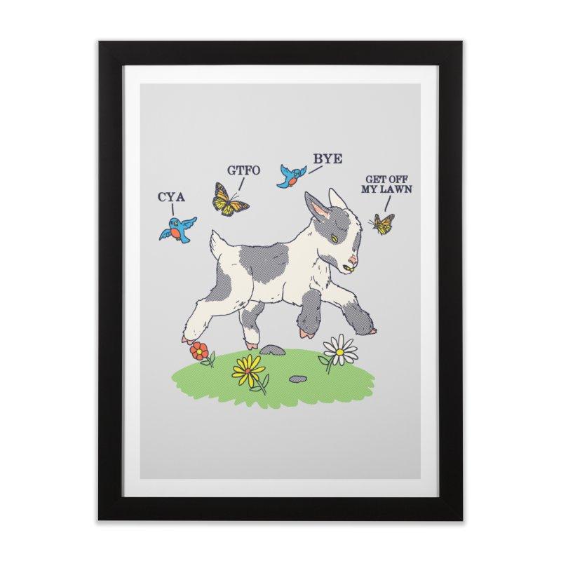GoatTFO Home Framed Fine Art Print by hillarywhiterabbit's Artist Shop