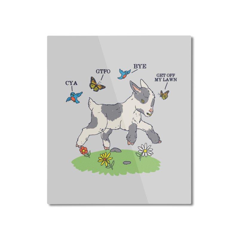 GoatTFO Home Mounted Aluminum Print by hillarywhiterabbit's Artist Shop