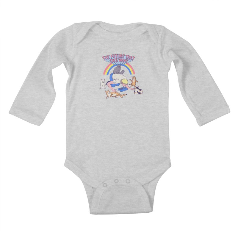 The Future That Cats Want Kids Baby Longsleeve Bodysuit by Hillary White