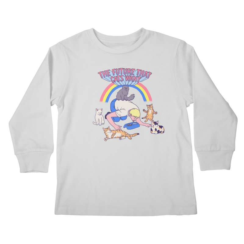 The Future That Cats Want Kids Longsleeve T-Shirt by Hillary White