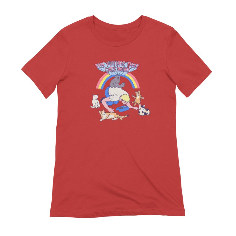 The Future That Cats Want Women's Extra Soft T-Shirt by hillarywhiterabbit's Artist Shop