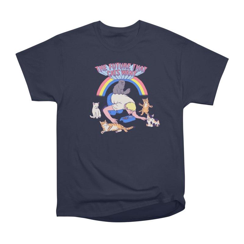 The Future That Cats Want Women's Heavyweight Unisex T-Shirt by hillarywhiterabbit's Artist Shop