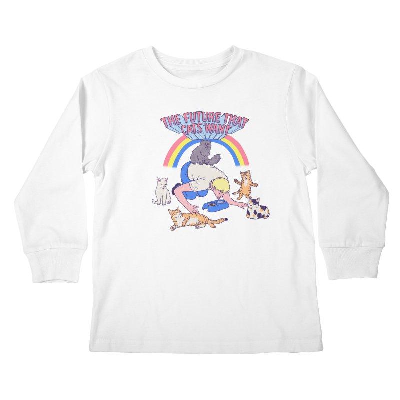 The Future That Cats Want Kids Longsleeve T-Shirt by hillarywhiterabbit's Artist Shop