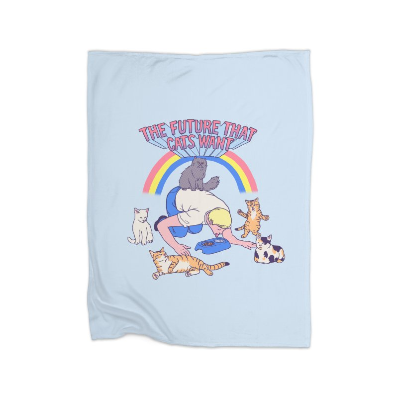 The Future That Cats Want Home Blanket by hillarywhiterabbit's Artist Shop