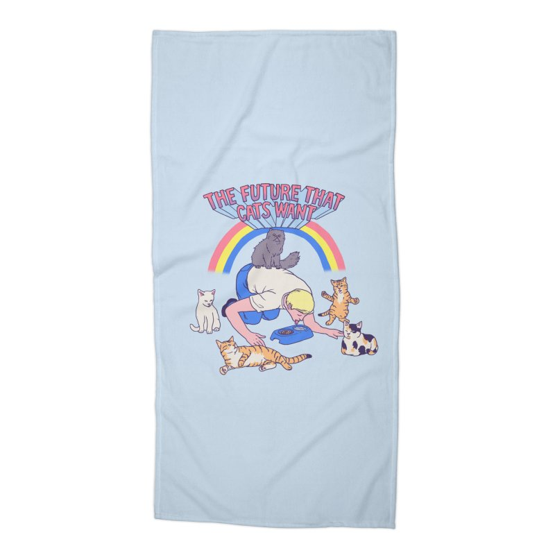 The Future That Cats Want Accessories Beach Towel by hillarywhiterabbit's Artist Shop