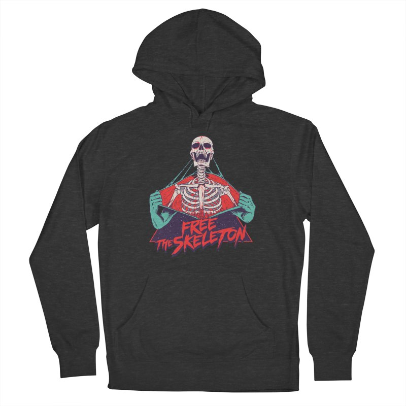 Free the Skeleton Men's French Terry Pullover Hoody by hillarywhiterabbit's Artist Shop