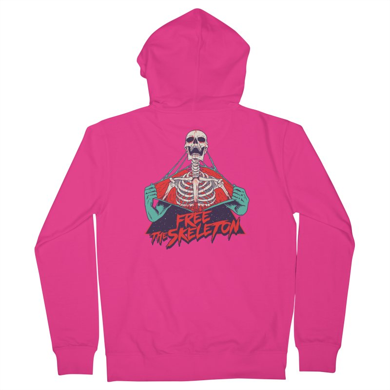 Free the Skeleton Men's French Terry Zip-Up Hoody by hillarywhiterabbit's Artist Shop