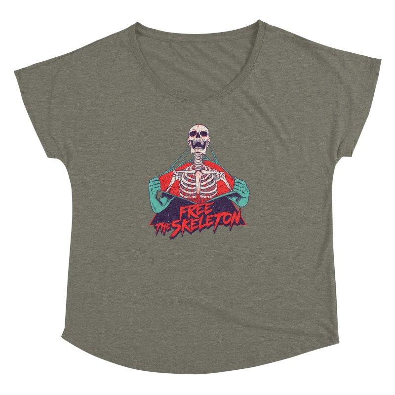 Free the Skeleton Women's Dolman Scoop Neck by hillarywhiterabbit's Artist Shop