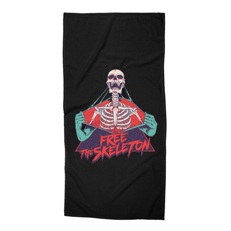 Free the Skeleton Accessories Beach Towel by hillarywhiterabbit's Artist Shop