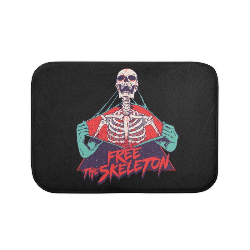 Free the Skeleton Home Bath Mat by hillarywhiterabbit's Artist Shop