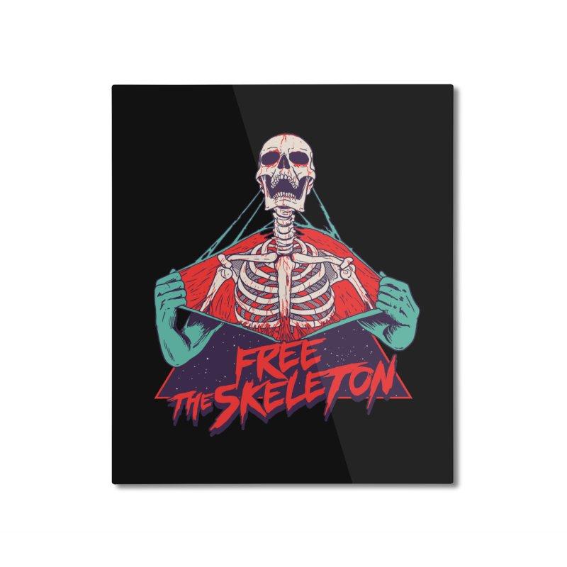 Free the Skeleton Home Mounted Aluminum Print by hillarywhiterabbit's Artist Shop