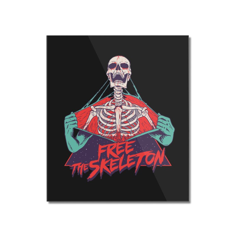 Free the Skeleton Home Mounted Acrylic Print by hillarywhiterabbit's Artist Shop