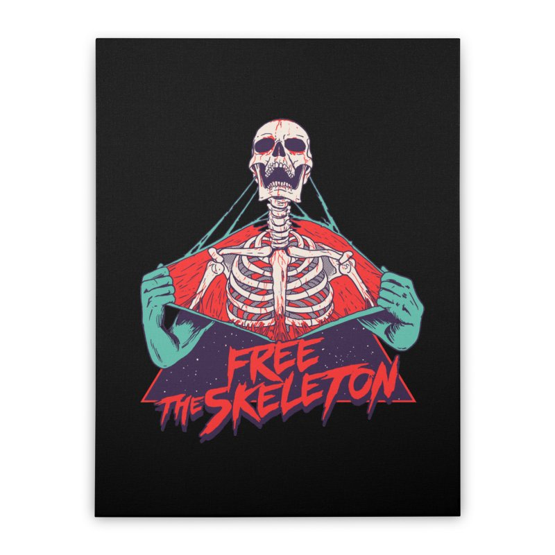 Free the Skeleton Home Stretched Canvas by hillarywhiterabbit's Artist Shop