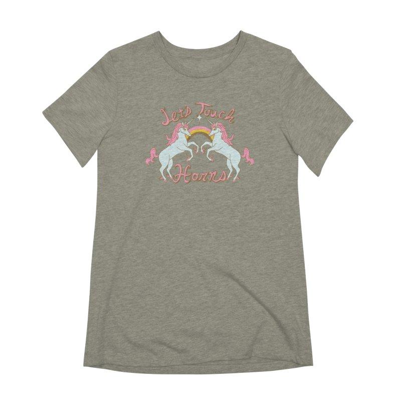 Let's Touch Horns Women's Extra Soft T-Shirt by hillarywhiterabbit's Artist Shop