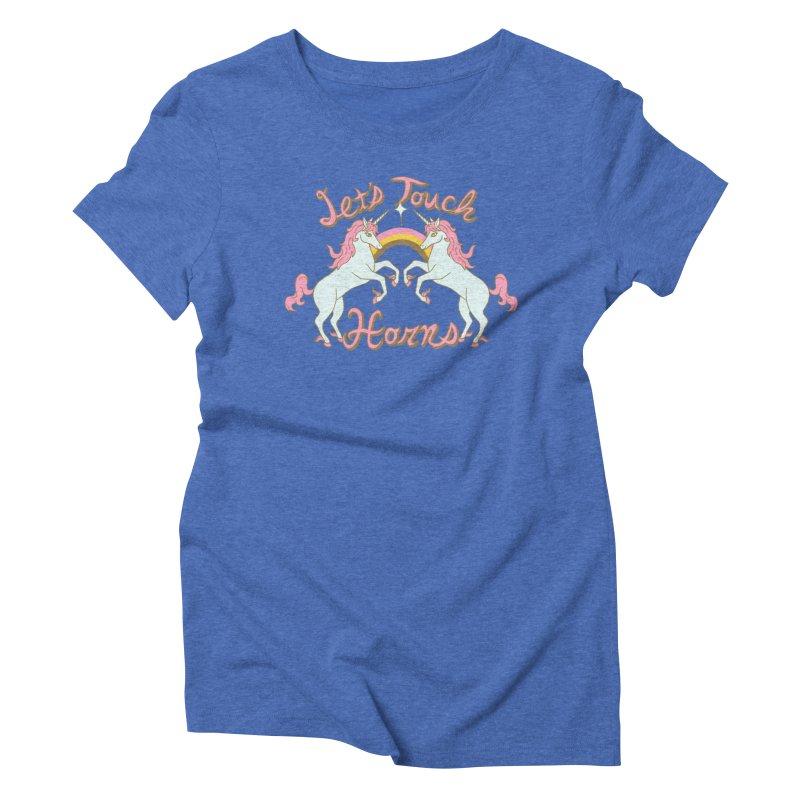 Let's Touch Horns Women's Triblend T-Shirt by hillarywhiterabbit's Artist Shop
