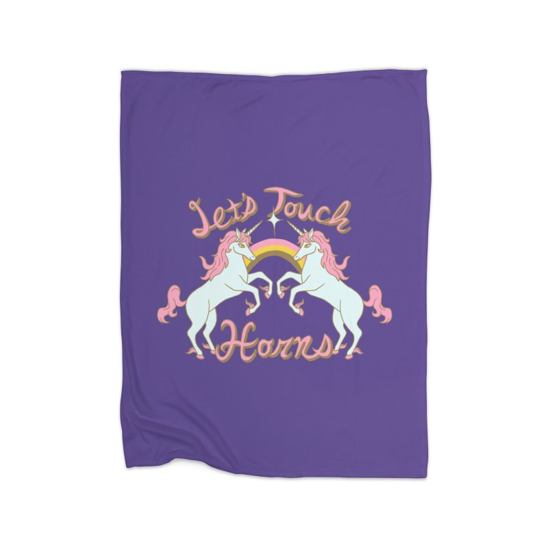 Let's Touch Horns Home Blanket by hillarywhiterabbit's Artist Shop