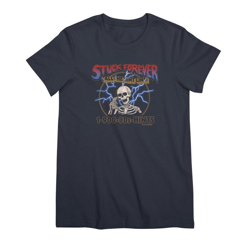 Hint Line Women's Premium T-Shirt by hillarywhiterabbit's Artist Shop