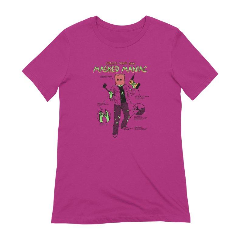 Create-Your-Own Masked Maniac Women's Extra Soft T-Shirt by hillarywhiterabbit's Artist Shop