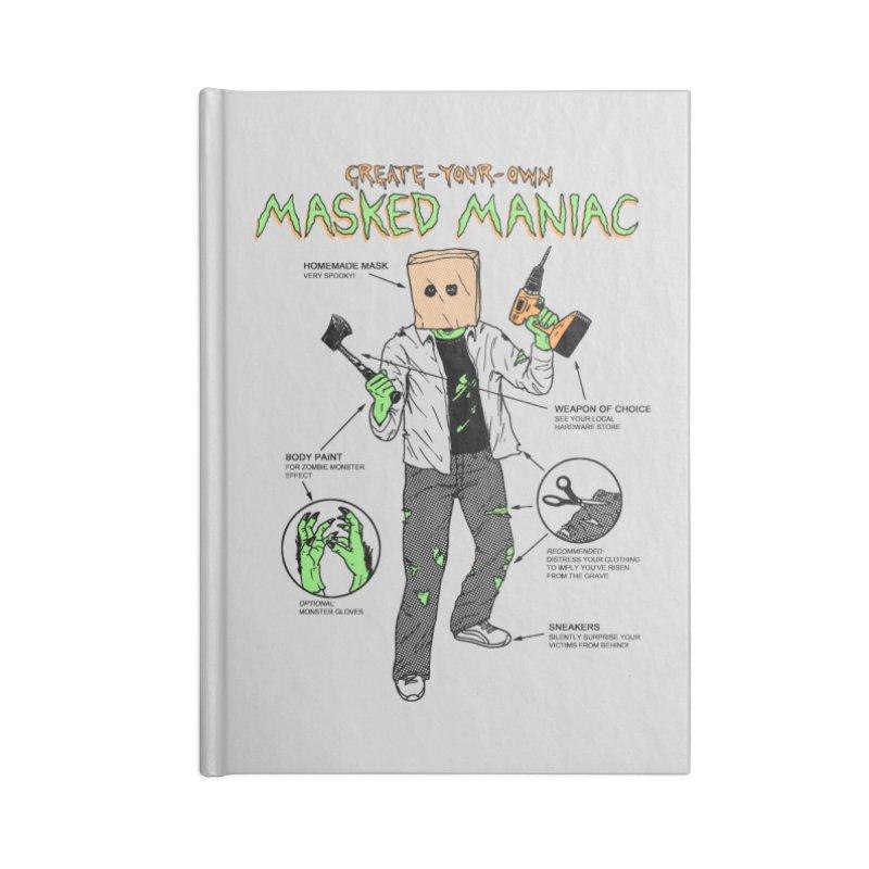 Create-Your-Own Masked Maniac Accessories Notebook by hillarywhiterabbit's Artist Shop