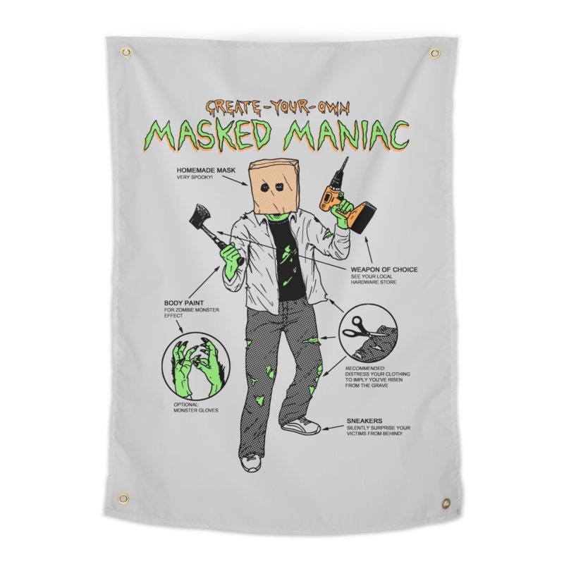 Create-Your-Own Masked Maniac Home Tapestry by hillarywhiterabbit's Artist Shop