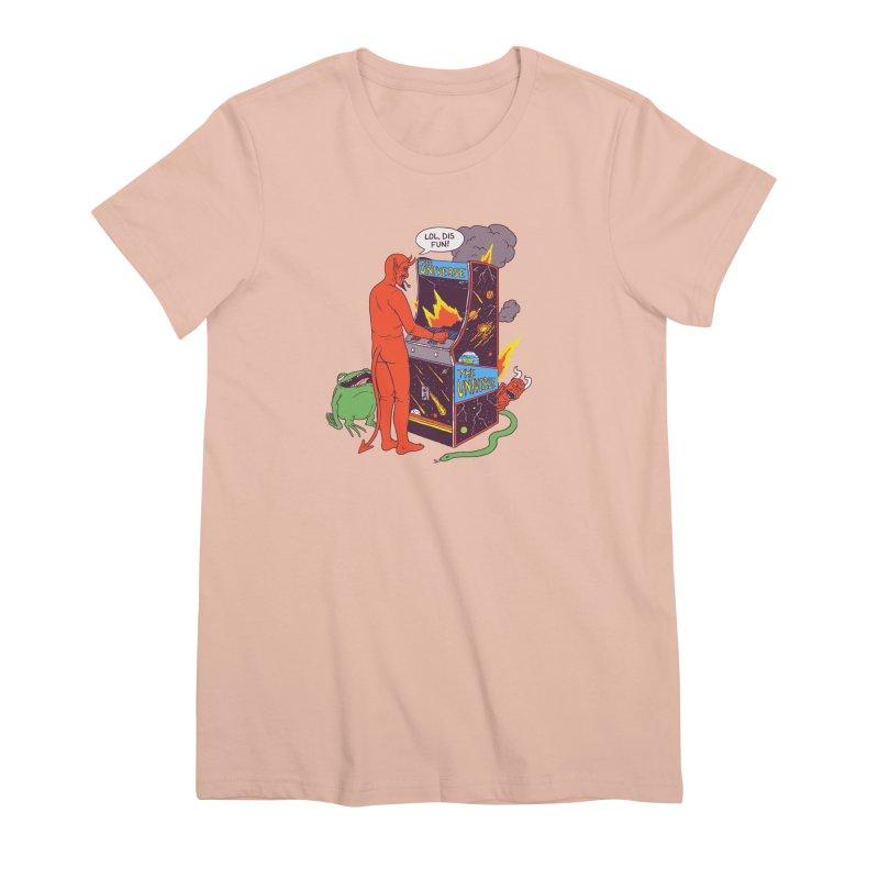 Satan Controlling the Universe Women's Premium T-Shirt by hillarywhiterabbit's Artist Shop