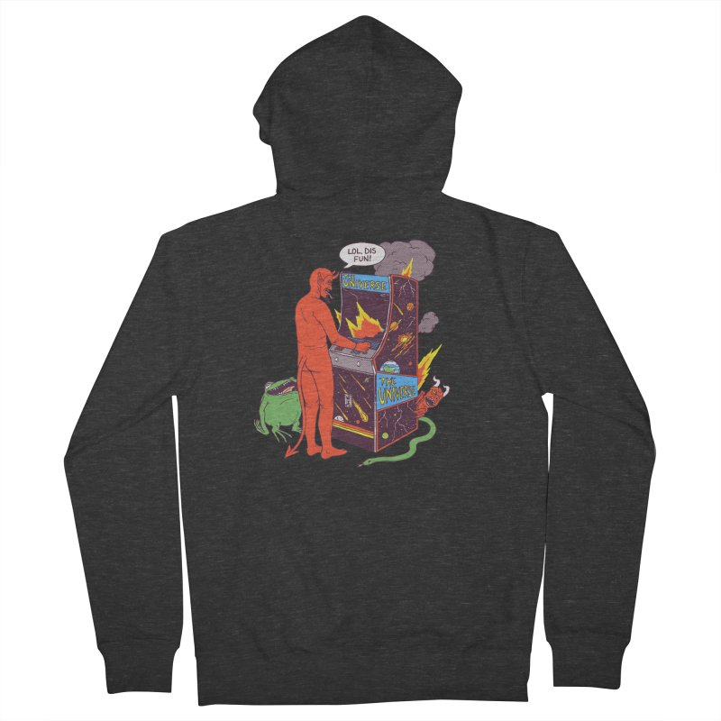 Satan Controlling the Universe Men's French Terry Zip-Up Hoody by hillarywhiterabbit's Artist Shop
