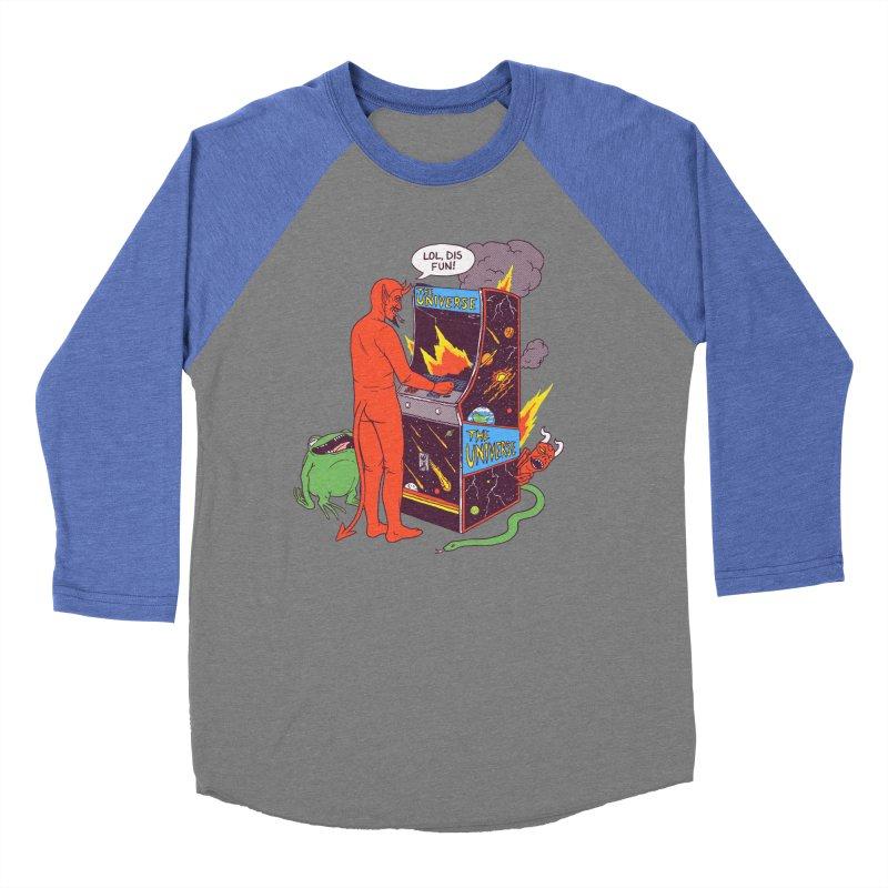 Satan Controlling the Universe Women's Baseball Triblend Longsleeve T-Shirt by hillarywhiterabbit's Artist Shop