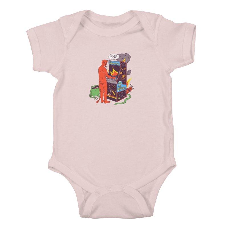 Satan Controlling the Universe Kids Baby Bodysuit by hillarywhiterabbit's Artist Shop