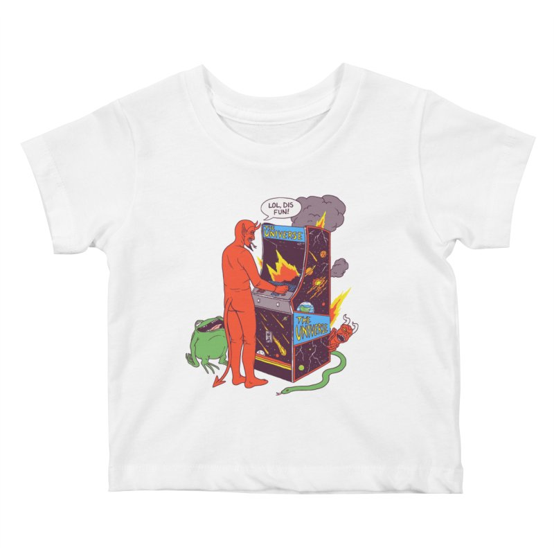 Satan Controlling the Universe Kids Baby T-Shirt by Hillary White