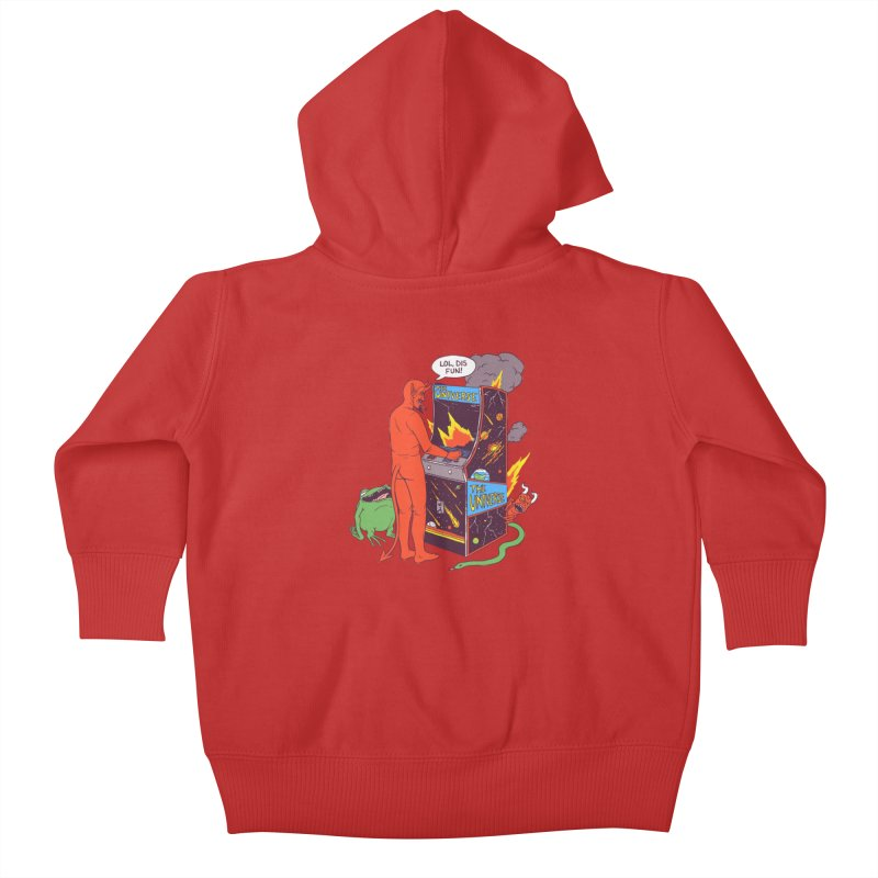 Satan Controlling the Universe Kids Baby Zip-Up Hoody by Hillary White