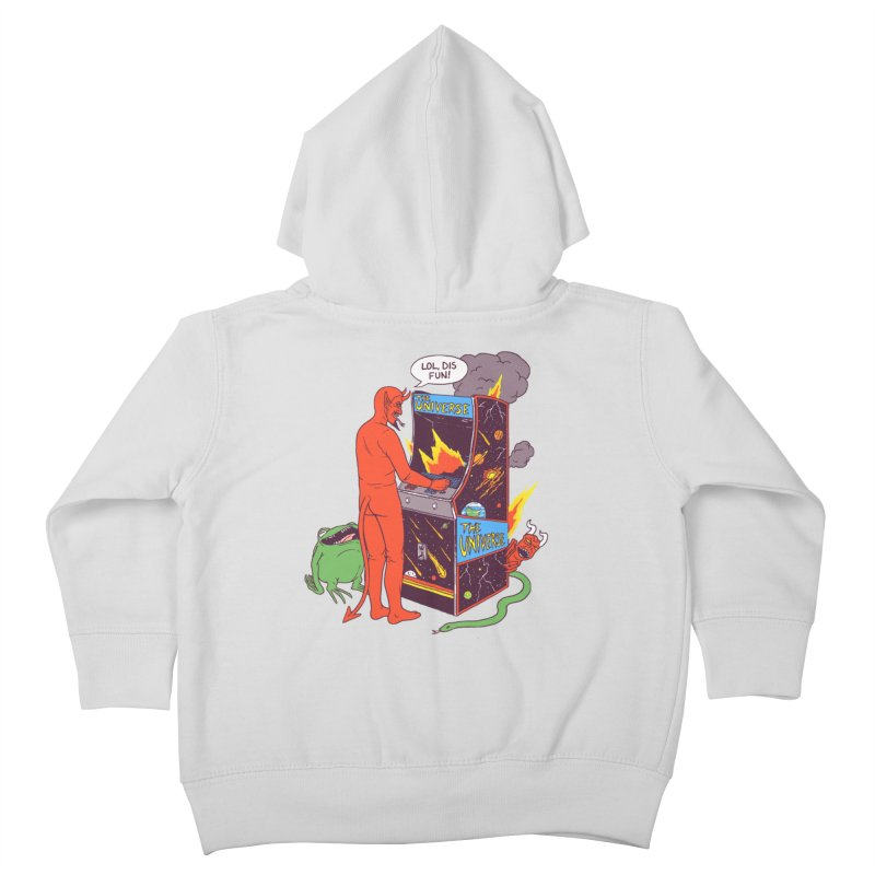 Satan Controlling the Universe Kids Toddler Zip-Up Hoody by Hillary White