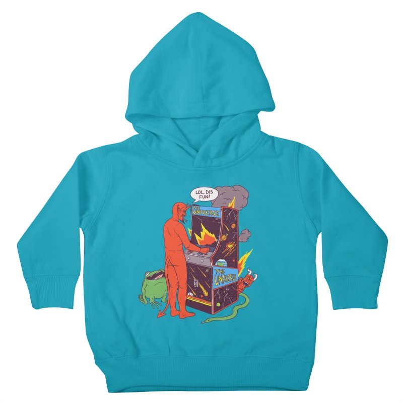 Satan Controlling the Universe Kids Toddler Pullover Hoody by Hillary White